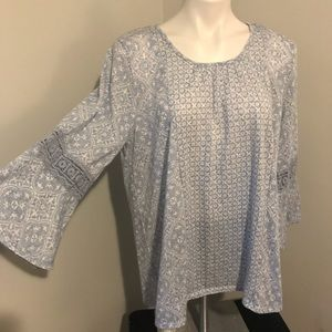 Kim Rogers 2x blouse great sleeves